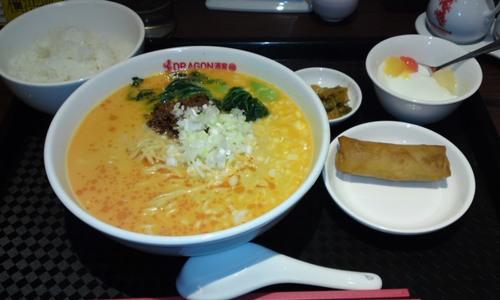 「DORAGON酒家 離」 ピリ辛タンタン麺セット 横浜駅近の本格中華