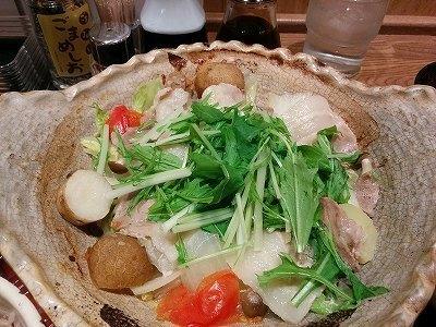「 大戸屋 」 四元豚とたっぷり野菜の蒸し鍋定食 ヘルシー