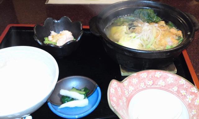 「 和楽宮 」 桜海老の礒海苔鍋 春爛漫なり
