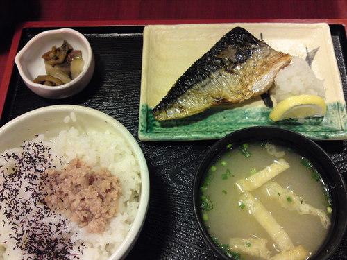 激安ランチ 「 やきとり平助 」 鯖の塩焼き定食 500円