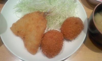 横浜とんかつ倶楽部 美味しいアジコロ定食