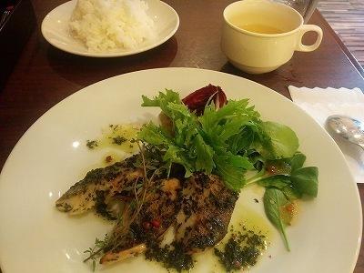 「 AmaOto 」 めばるのハーブ焼き アワビの肝ソース