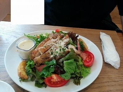 「 ロンハーマンカフェ 」 大山鶏のローストチキンサラダ おしゃれで美味しい!